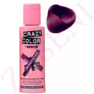 CRAZY COLOR CREMA COLORANTE Nº50 CABELLO AUBERGINE 100ML