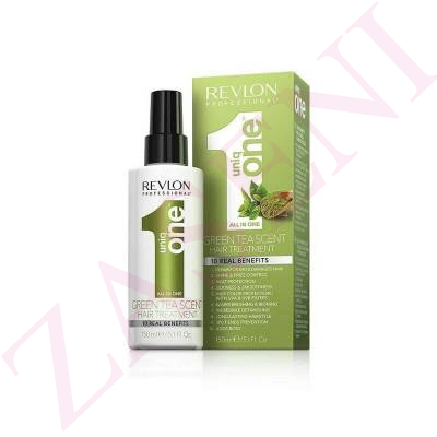 REVLON UNIQ ONE 1 ALL IN ONE HAIR TREATMENT GREEN TEA 150ML