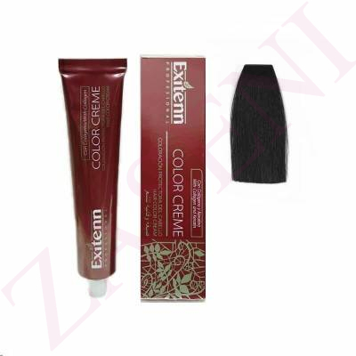 EXITENN COLOR CREME 1 NEGRO 100ML