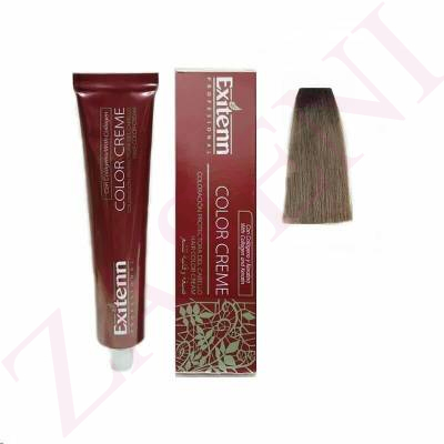 EXITENN COLOR CREME 7/1 RUBIO MEDIO CENIZA 100ML