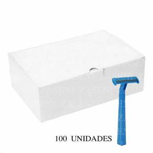 MAQUINA DE RASURADO 1 HOJA CON PEINE 100 UNIDADES
