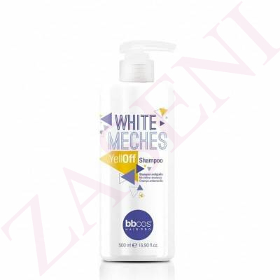 BBCOS WHITE MECHES CHAMPU YELLOFF 500ML