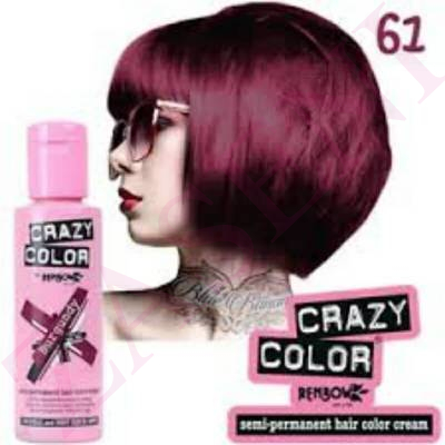 CRAZY COLOR CREMA COLORANTE CABELLO BURGUNDY 61 100ML