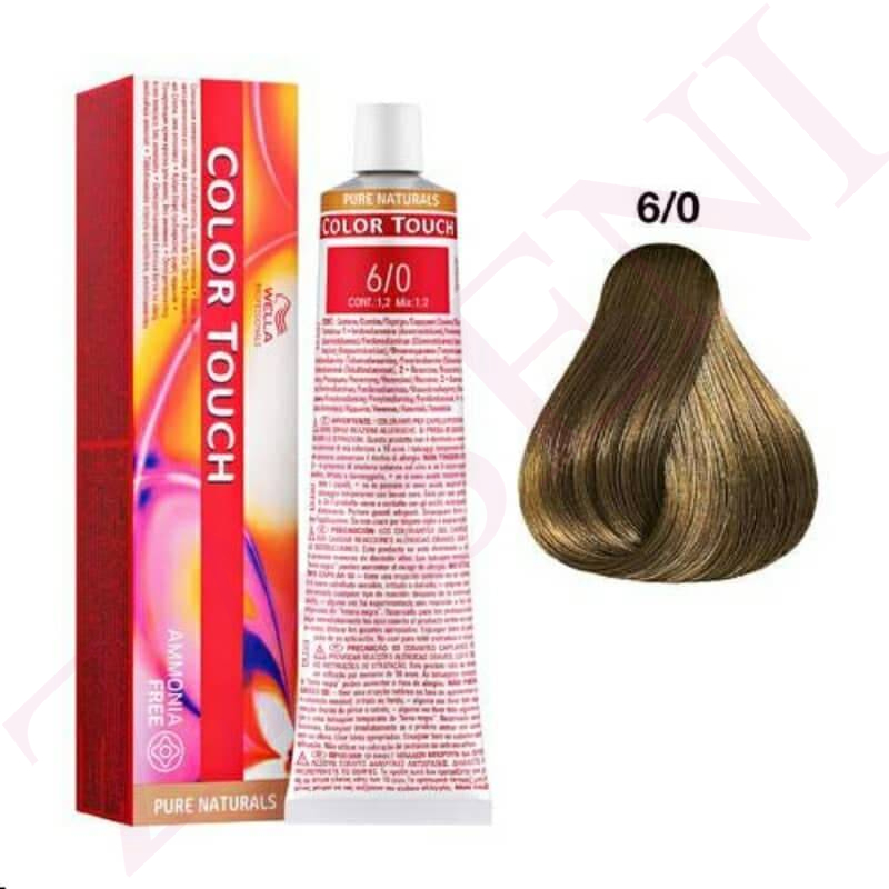 6/0 RUBIO OSCURO INT.WELLA C.TOUCH PUR NATURAL SIN AMONIACO