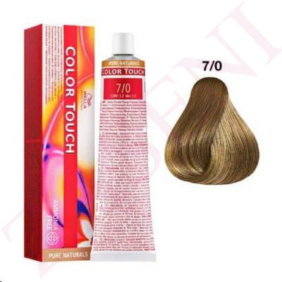7/0 RUBIO INTENSO MEDIO WELLA C.TOUCH PURE NATURAL S/AMONIA