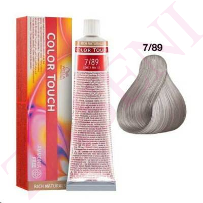 7/89 RUBIO MED.PERLA CENDRÉ WELLA C.TOUCH RICH NATURAL S/AM