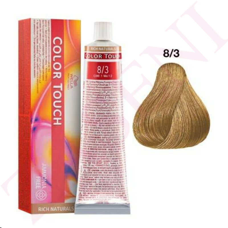 8/3 RUBIO CLARO DORADO WELLA C.TOUCH RICH NATURAL NO AMONIA