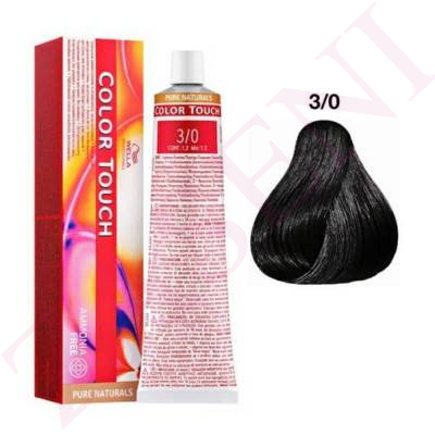 3/0 CASTAÑO INT.OSCURO WELLA COLOR PURE NATURALS SIN AMONIAC