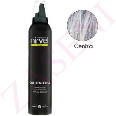 NIRVEL ESPUMA COLOR 300 ML CENIZA