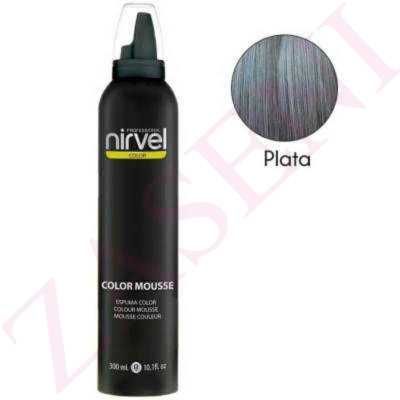 NIRVEL ESPUMA COLOR 300ML PLATA
