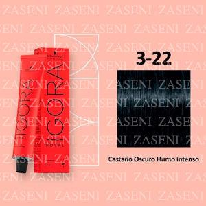 3-22 CASTAÑO HUMO SCHWARZKOPF IGORA ROYAL 60ML