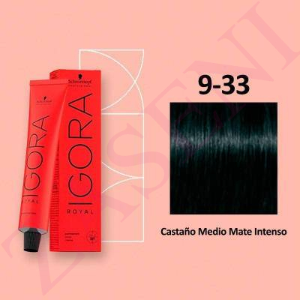 SCHWARZKOPF IGORA ROYAL 4-33 CASTAÑO MATE INTENSO TINTE 60ML