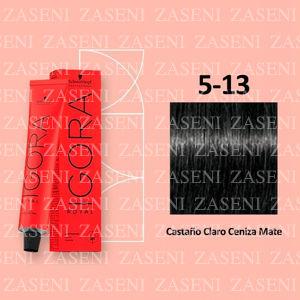 5-13 CASTAÑO CENIZA MATE SCHWARZKOPF IGORA ROYAL 60ML