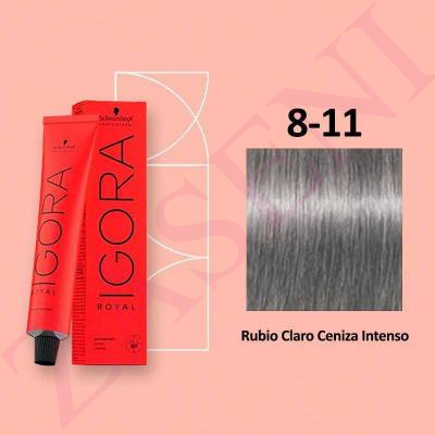 8-11 RUBIO CENIZA SCHWARZKOPF IGORA ROYAL HIGHLIFTS 60ML