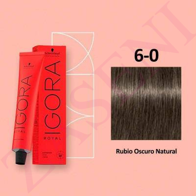 6-0 RUBIO OSCURO SCHWARZKOPF IGORA ROYAL HIGHLIFTS 60ML