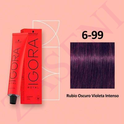 6-99 RUBIO VIOLETA SCHWARZKOPF IGORA ROYAL HIGHLIFTS 60ML