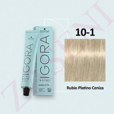 10-1 RUBIO CENIZA SCHWARZKOPF IGORA ROYAL HIGHLIFTS 60ML