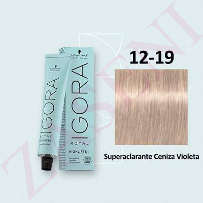 12-19 CENIZA VIOLETA SCHWARZKOPF IGORA ROYAL HIGHLIFTS 60ML