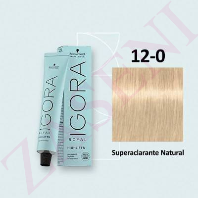 12-0 SUPERACLARANTE SCHWARZKOPF IGORA ROYAL HIGHLIFTS 60ML