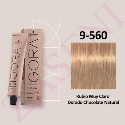 9-560 CHOCOLATE NATURAL SCHWARZKOPF IGORA ROYAL ABSOLUT