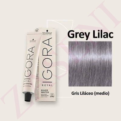 GREY LILAC SCHWARZKOPF IGORA ROYAL SILVER WHITES 60ML