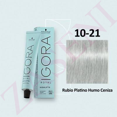 10-21 HUMO CENIZA SCHWARZKOPF IGORA ROYAL HIGHLIFTS 60ML