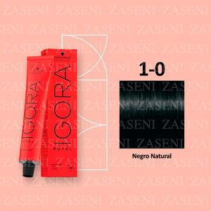 SCHWARZKOPF IGORA ROYAL 1-0 NEGRO NATURAL TINTE 60ML